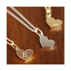 Jeulia Custom Initial Heart Plate Engraved Necklace
