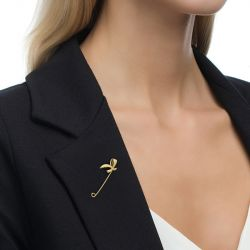 Jeulia Simple Bow-knot Design Sterling Silver Brooch