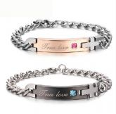 Jeulia true Love Titanium Steel Couple's Bracelets